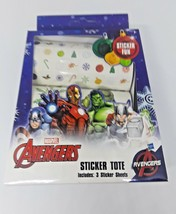 Marvel Avengers Sticker Tote 3 Sticker Roll Sheets (Holiday Themed) NEW - $8.30