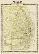 St Louis Missouri - Warner 1876 - 23.00 x 31.43 - $36.58+