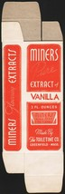 Vintage box MINERS EXTRACT of Vanilla Toiletine Co Greenfield Mass unuse... - $6.99