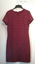 Old Navy Women's Maroon Black striped Dress Size Medium - $15.00