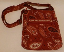 Vera Bradley Mesa Red Hipster Crossbody Cotton Fabric Bag Excellent! - $29.02