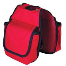 "7.5'X7.5"" Hilason Western Tack Horse Pockets Horn Bag Red U-41RD - $22.72"