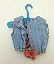 Vintage Denim Vest with Skipper Doll Hanger - $11.37