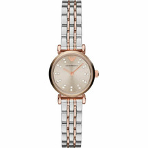 New Emporio Armani Women's Silver Dial Two Tone Stainless Steel Watch AR... - $136.50