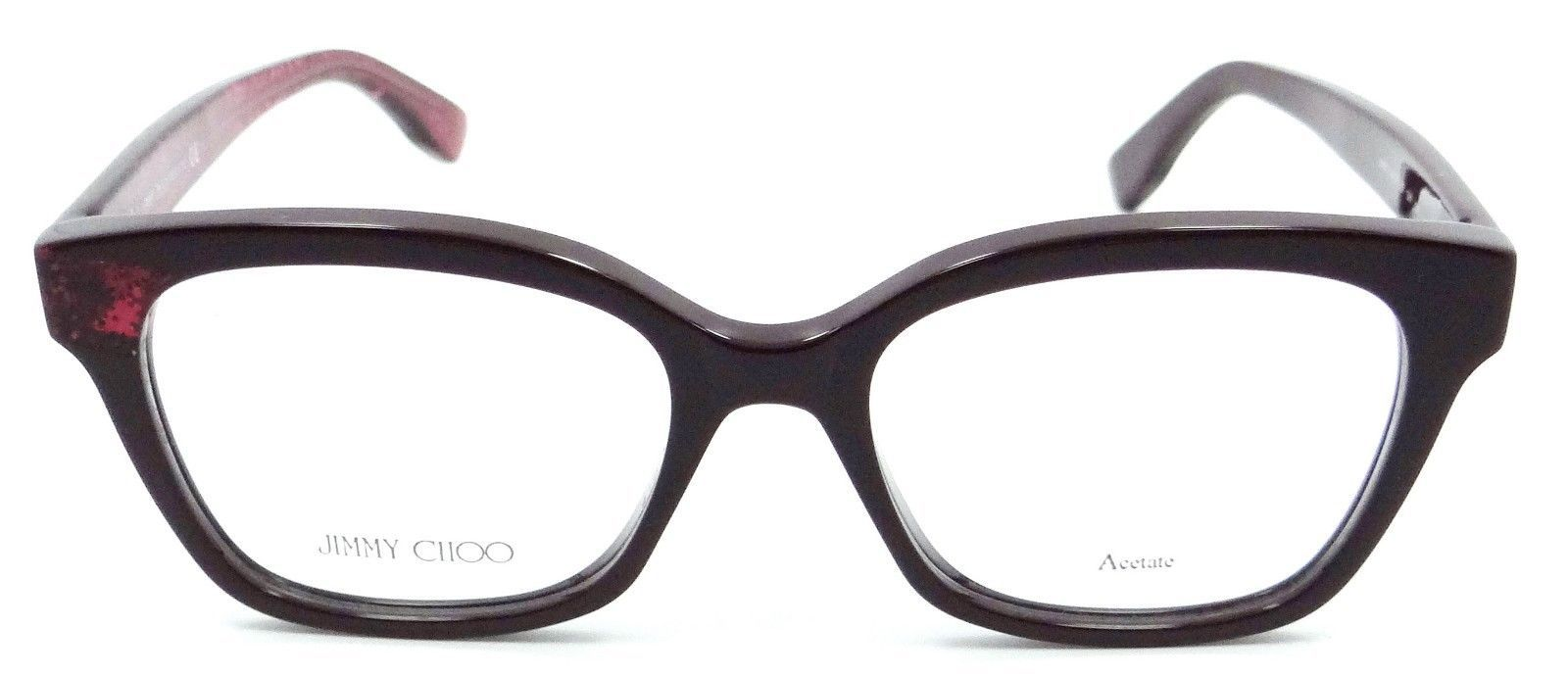 be0297acfe Jimmy Choo Rx Eyeglasses Frames JC 150 Q51 50-17-140 Red Glitter Made