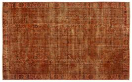 Bespoky Vintage Handwoven Kilim Rug Orange Medium Size 5'0'' X 8'2'' Ft - $1,740.00