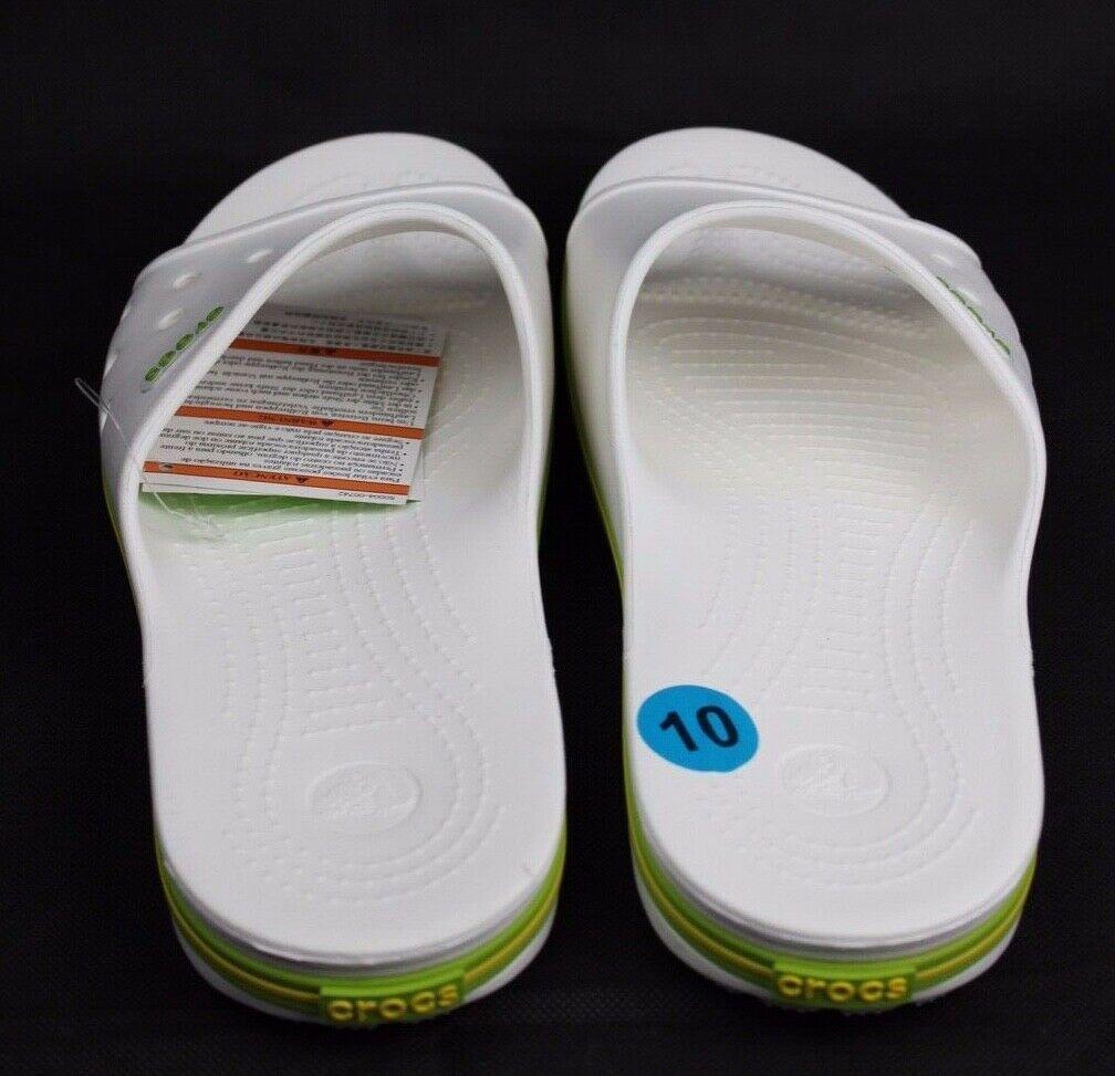 Crocs Crocband II Slide Unisex Sandali Bianco Vestibilità Comoda Taglia Uomo 10