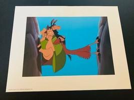 Walt Disney Litho Print 14X11 For Framing Emperors New Groove Kuzco Yzma... - $19.25