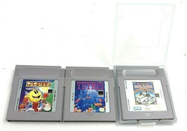 Lot of 3 Nintendo Game Boy Video Game Cartridges: Pac-Man, Tetris & Mono... - $24.95