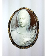 Vintage Signed G.Noto 14K Yellow GOLD CAMEO Pendant or Pin  - $2,500.00