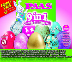 PAAS 9 in 1 Color & Crafting Kit Egg Decorating Kit - $8.90