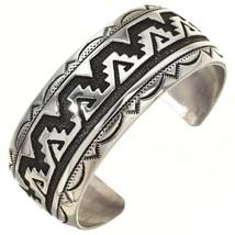 Navajo Rose, Tommy Singer Rug Design Overlay Bracelet Mens Womens Cuff s6.5 - $349.00