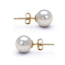 6-10mm AAA Japanese White Pearl Earrings Stud Pearl Earrings Silver Sett... - $17.99+
