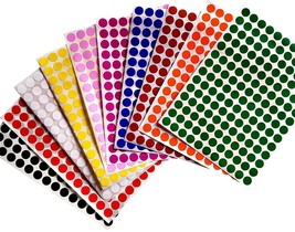 Color Coding Labels 3/8 Inch 10 mm Round Dot Stickers Dots Label 3080 Pack - $8.79