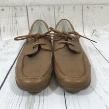COLE HAAN Men's Brown Leather Driving Boat Shoes Size 11.5 M - $39.59