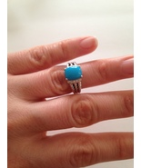 Pre Owned David Yurman Petite Wheaton Turquoise  Ring 10mmx8mm Size 6 - $295.00