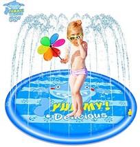 """NEOROD Sprinkler Splash Play Pad Mat,68"""" Inflatable Baby Wading Pool Fun Summer"""