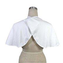 Beauty Salon Client Short Gown Waterproof Hair Dye Cape Smock, White