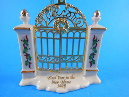 "Lenox Ornament Welcome Gold Gates 2008 New home 3.25"" Excellent condition - $12.86"