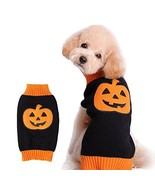 NACOCO Dog Sweater Pumpkin Pet Sweaters Halloween Holiday Party Cat Pupp... - $15.65