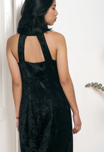 80s vintage crushed velvet party dress - $39.41