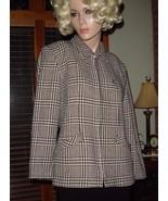 Laura Scott Black/White Houndstooth Plaid Blazer Jacket Lined Career/Cas... - €20,33 EUR