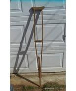 "Antique One Piece Wood Crutch 62"" - $35.00"