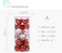 6/8Cm Christmas Tree Ball Baubles For Christmas Hanging Ornament Decorat... - $14.99+