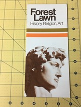 Vintage Travel Brochure Forest Lawn Museum History Religion Art California  - $29.35