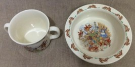 Royal Doulton Bunnykins Beatrix Potter Baby Cup & Bowl Bone China Collec... - £15.31 GBP