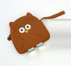 Brunch Brother Flying Owl Pouch Cosmetic Bag Case Organizer (Brown) image 6