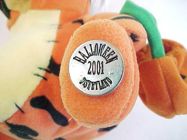 2001 Disney Halloween Pooh Dressed as Tigger Bean Bag