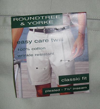 Mens Roundtree & Yorke Pleated Golf Shorts Sz 38 NEW Light Tan