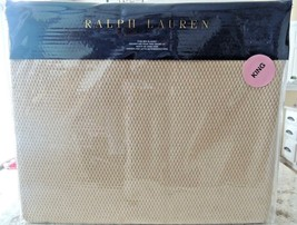 RALPH-LAUREN-Cotton-KING-BLANKET-Burnished-Chamois-PALMER-PERCALE- $255-... - $108.41