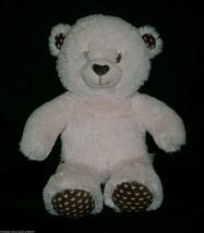 "16 ""construction bear baby girl pink brown hearts teddy bear animal - $13.10"