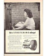 1947 Kelly Springfield Tires laboratory testing print ad - $10.00