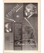 1947 Thomas Edison Electronic Voicewriter Ear-Tuned print ad - $10.00