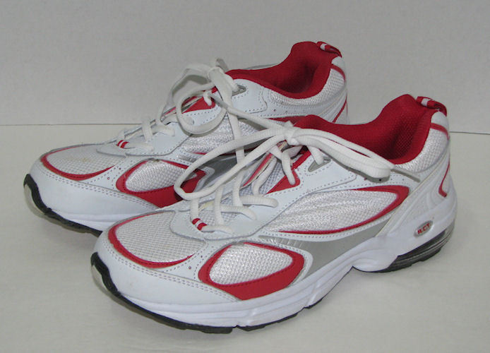 SOLD - Womens Curves Red White Silver Sneakers Size 9.5