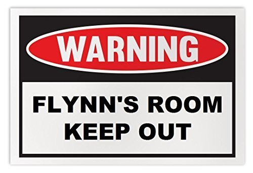 Personalized Novelty Warning Sign: Flynn's Room Keep Out - Boys, Girls, Kids, Ch