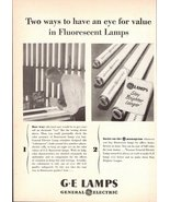 1947 G.E. Fluroscent Lamps advertising print ad - $10.00