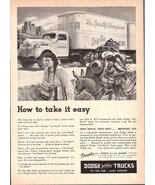 1947 Dodge Job-Rated Trucks with Indians & Donkeys print ad - $10.00
