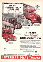 1947 IH International Trucks 40th Anniversary print ad - $10.00