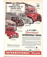 1947 IH International Trucks 40th Anniversary print ad - $10.00