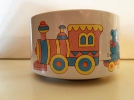 "Teddy Bear Train Ceramic Baby Bowl / Planter, CMC INC 1988 - 4"" Wide x 2... - $11.63"