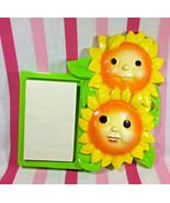 Darling Vintage Miller Studio Anthropomorphic Sunflower Chalkware Wall N... - $18.70