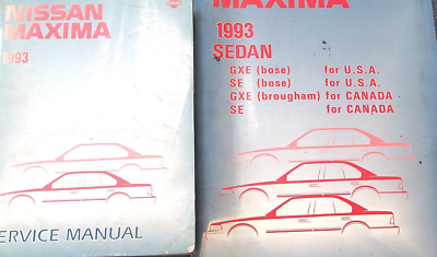 Primary image for 1993 Nissan Maxima Service Repair Shop Workshop Manual Set W Wiring Diagram