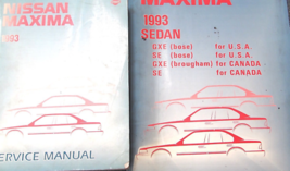 1993 Nissan Maxima Service Repair Shop Workshop Manual Set W Wiring Diagram - $98.95
