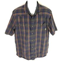 Vans Men's Pearl Snap Black Red Shirt XXL 2XL - $24.74