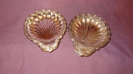 "2 Shell Scalloped Candy Nut Trays 5"" Silver Plated - $13.51"