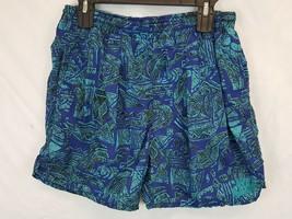VTG Nike All Over Print Abstract Shorts Swim Trunks Size S Hip Hop Baggi... - $79.28